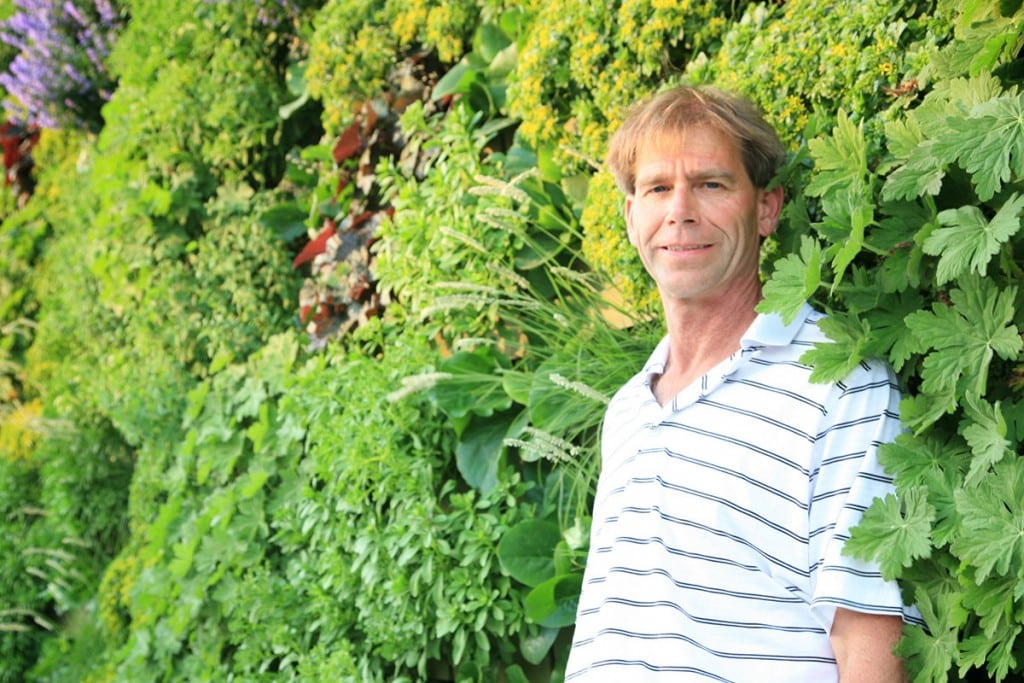 Dave MacKenzie, horticulturalist, founder and inventor of LiveWall.