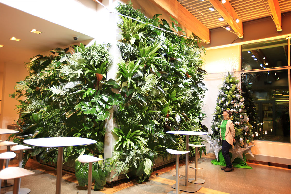 Tropical Living Wall at Grand Rapids Downtown Market