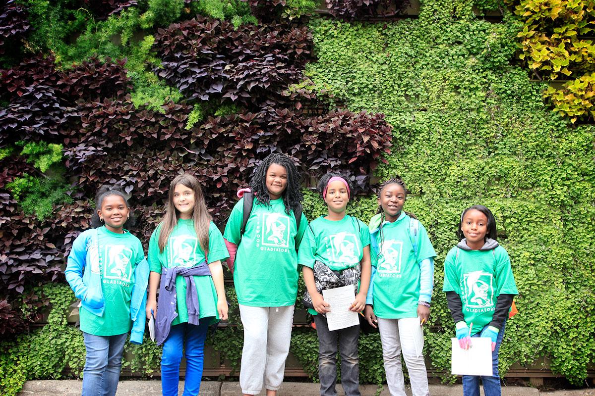 Green walls strengthen education