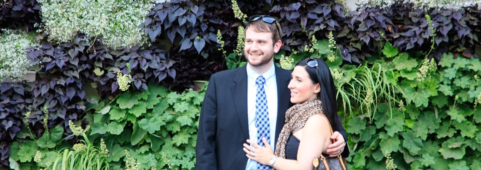 Couple and Grand Rapids Living Wall for ArtPrize 2014