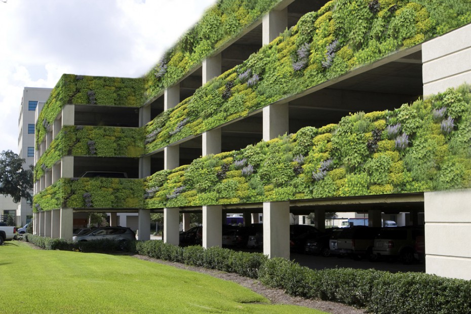 LiveWall Green Wall System Make Parking More Pleasant