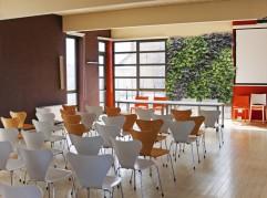Vertical garden in a classroom
