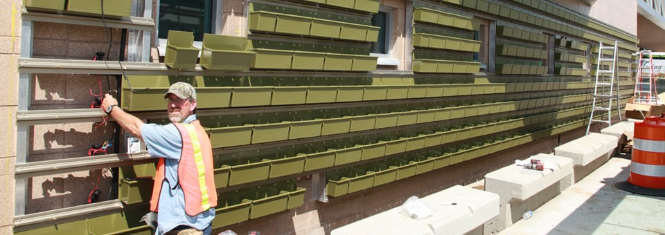 LiveWall Outdoor Green Wall Structure Installation