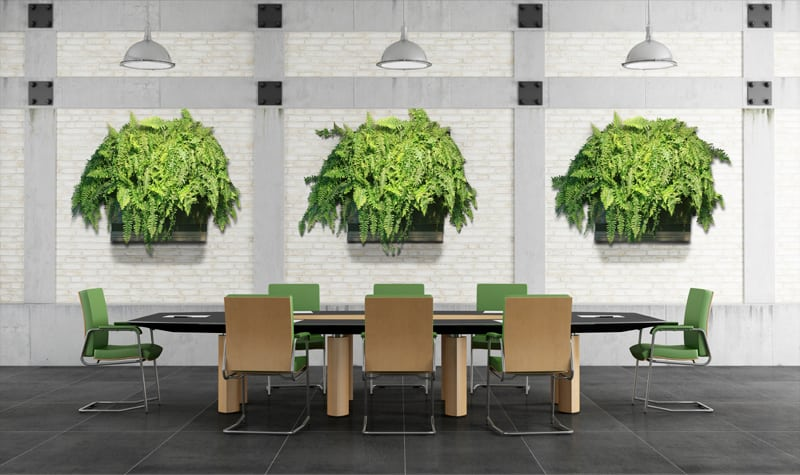 green wall office. Office Space Living Wall Green E