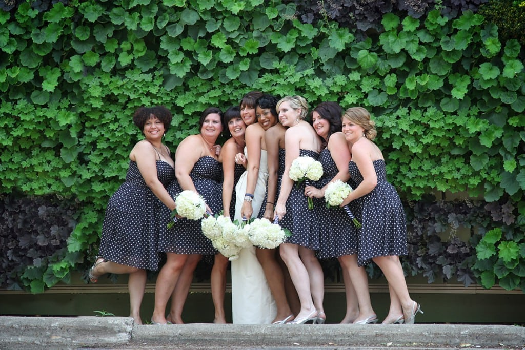Wedding Party at Perennial Living Wall