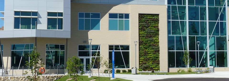 Bronson Healthy Living Campus boasts a green wall.