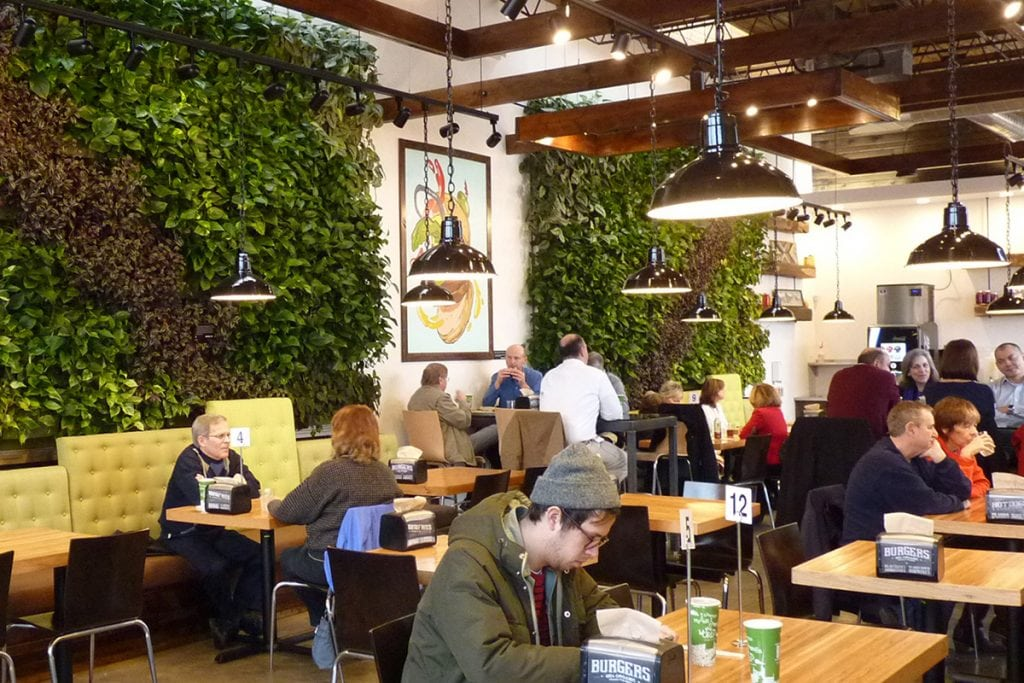 Brome Modern Eatery Restaurant Interior Green Walls