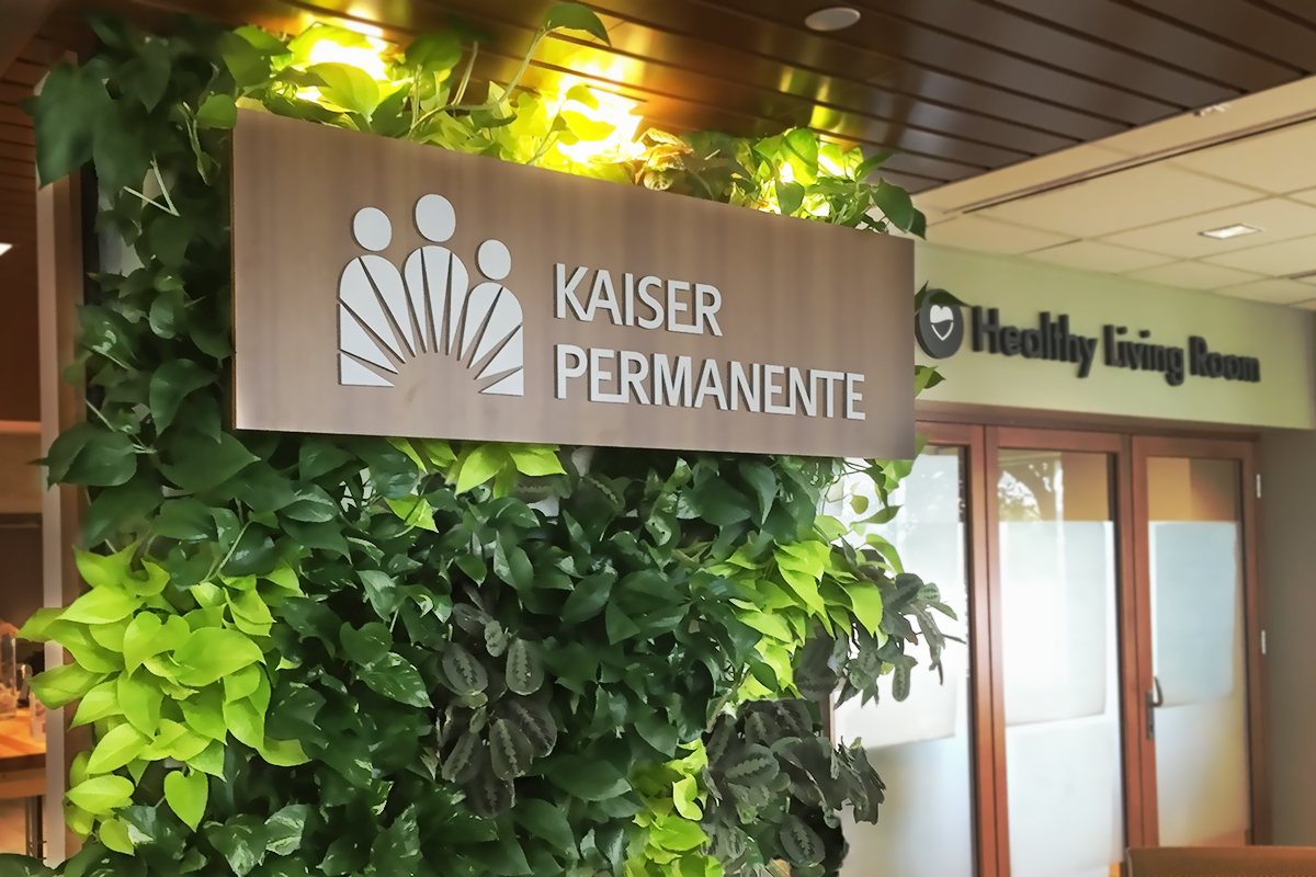 Kaiser Permanente Manhattan Beach Medical Office Indoor Living Wall