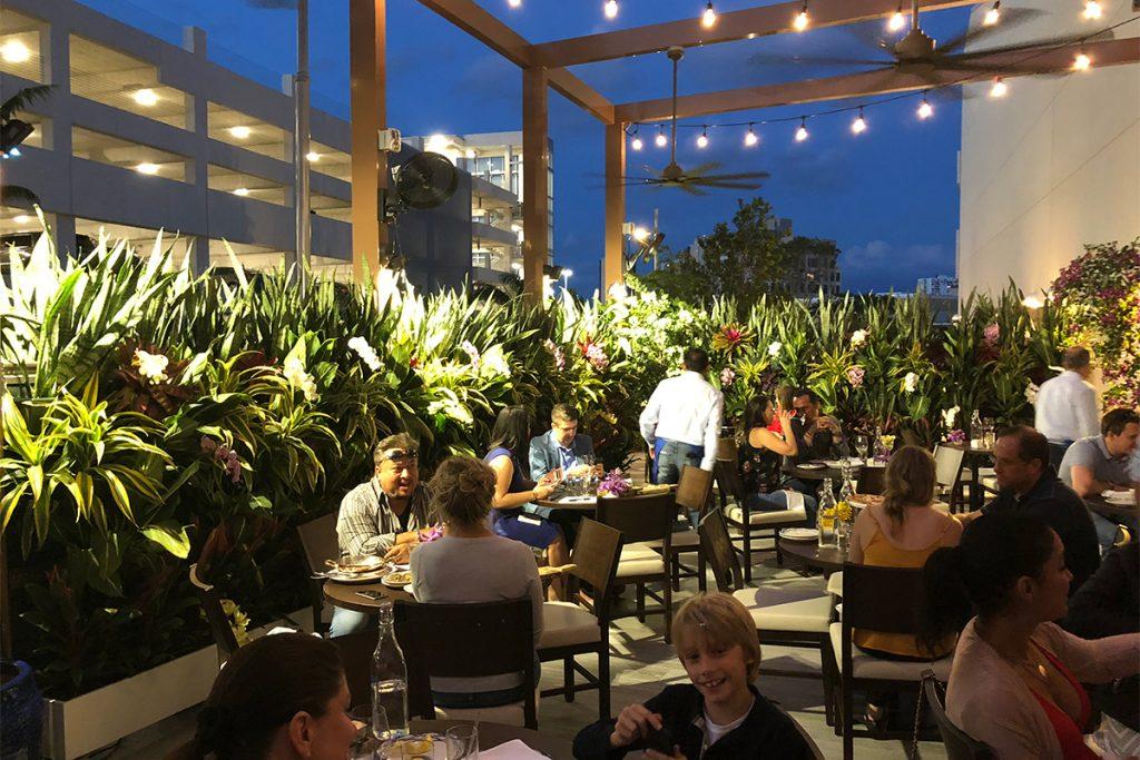 Serafina Restaurant Outdoor Living Walls