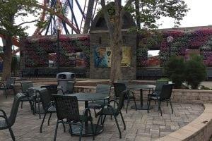 Cedar Point Amusement Park's Living Wall at Valravn Roller Coaster
