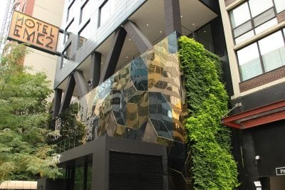 Outdoor green wall on Autograph Hotel in Chicago, Illinois.
