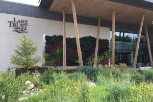Lake Trust Credit Union Headquarters, Outdoor Living Wall