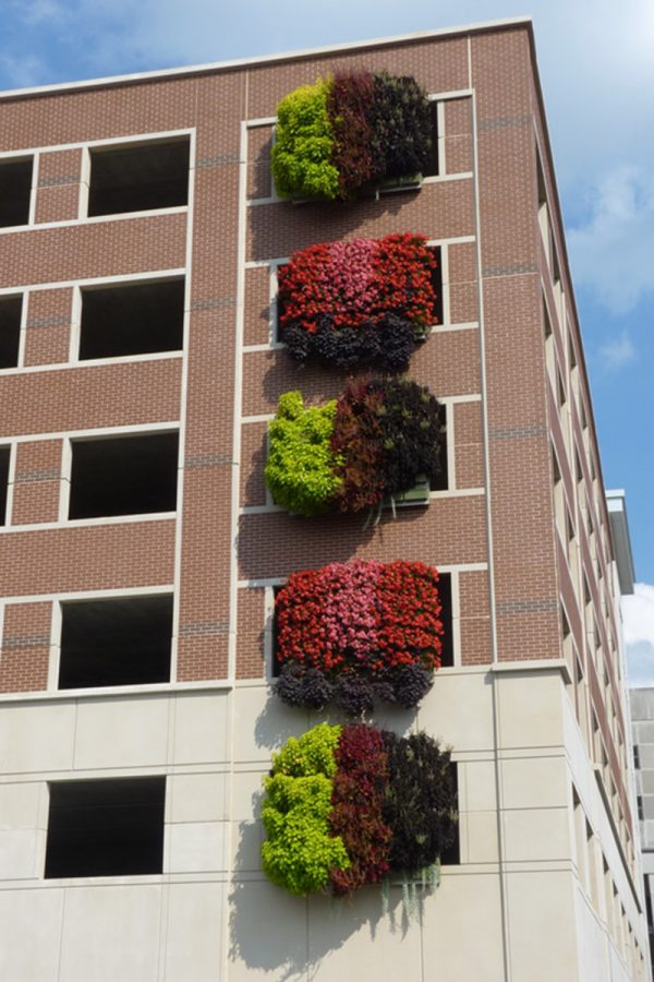 Monroe County Parking Garage - Lush LiveWall Installation