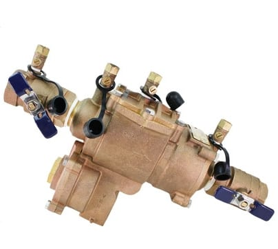 Backflow preventers are typically required by local building code