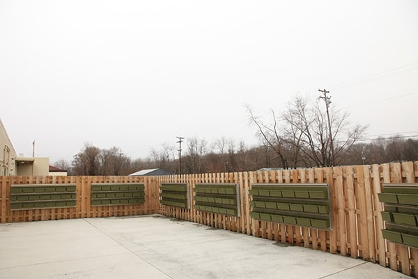 Four Pointes Center for Successful Aging LiveWall Structure - Ready for Planting