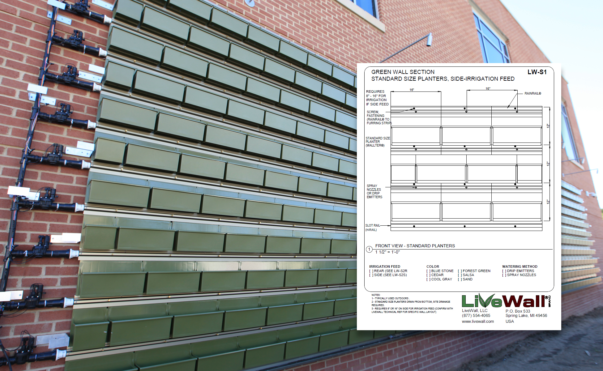 Simple Green Wall Detail Drawings For Architectural Plans