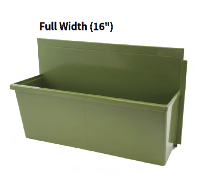 LiveWall Standard Size Planter (Full Width) in Sage Color