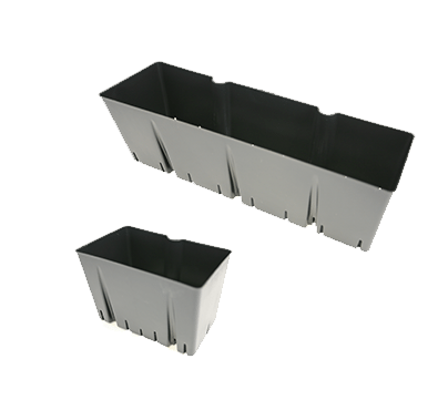 Removable wall planter inserts allow for the plants to be grown separately from the system. This allow for easy inspection of roots, rearrangement, and replacement.