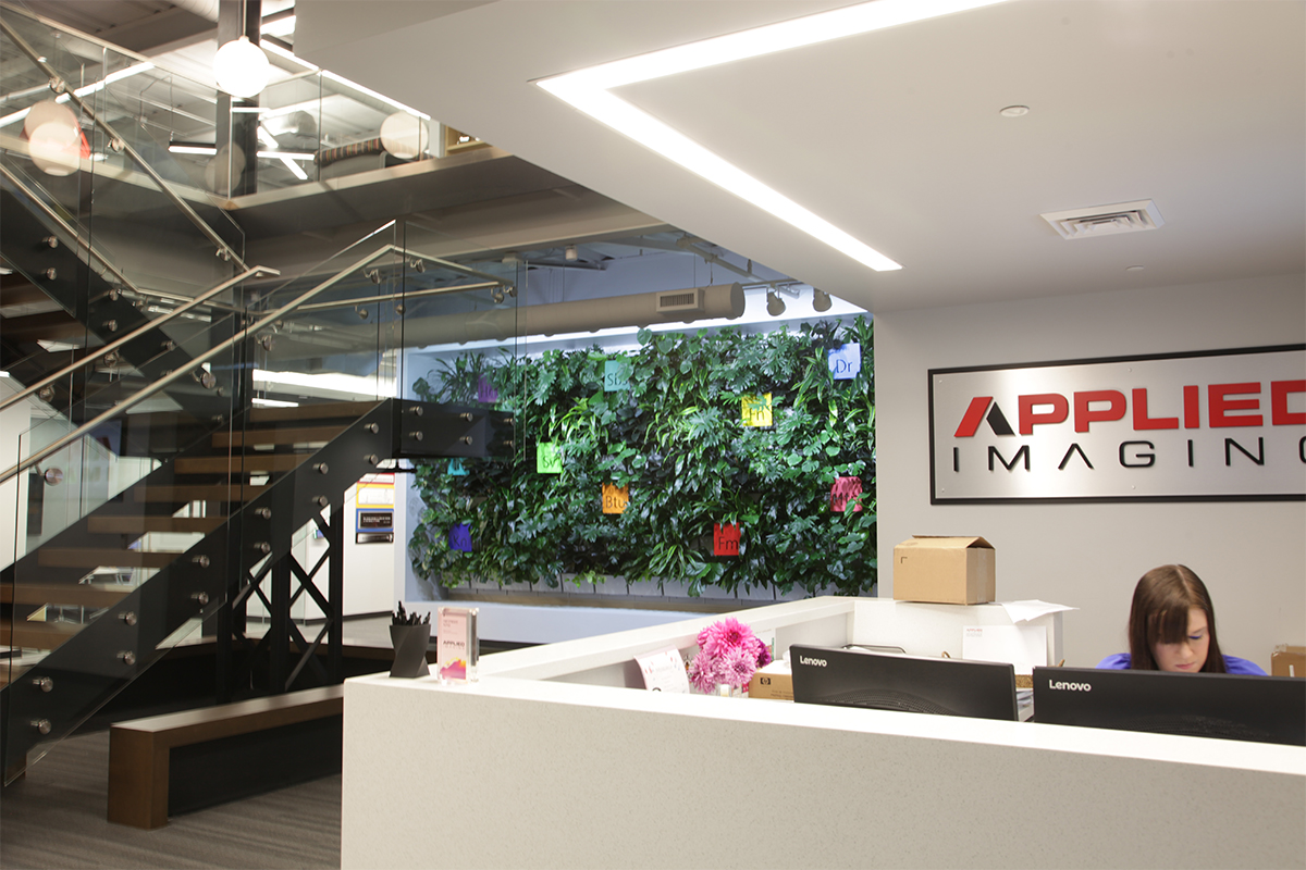 Applied Imaging's Indoor Living Wall in Lobby