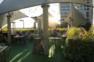 Bobarino's Outdoor Dining Area with Vertical Gardens
