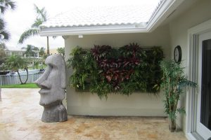 Florida Home with Green Wall