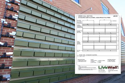 LiveWall publishes detail drawings for use in architectural plans.