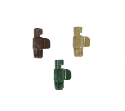 "LiveWall ""tool-free"" irrigation nozzles available in 3 colors / flow rates."